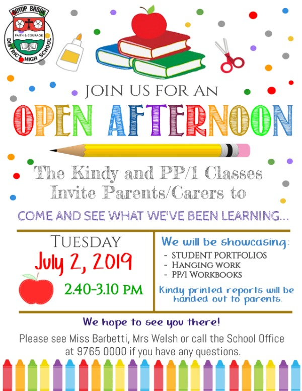 ECE Open Afternoon Flyer